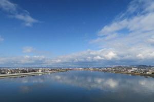 岡南大橋からの眺望
